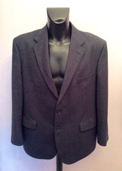 Marks & Spencer Navy Blue Wool & Cashmere Suit Jacket Size 46 - Whispers Dress Agency - Mens Suits & Tailoring - 1