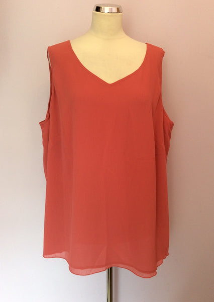 Elizabeth By Liz Claibourne Apricot Sleeveless Top Size XXL - Whispers Dress Agency - Sold