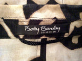 Betty Barclay Collection Black & Light Brown Print Cotton & Linen Jacket Size 8 - Whispers Dress Agency - Womens Coats & Jackets - 4