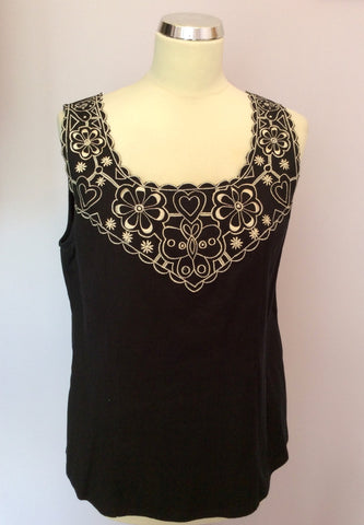 ADINI BLACK & WHITE EMBROIDERED TRIM TOP & LONG SKIRT SIZE L - Whispers Dress Agency - Womens Suits & Tailoring - 2