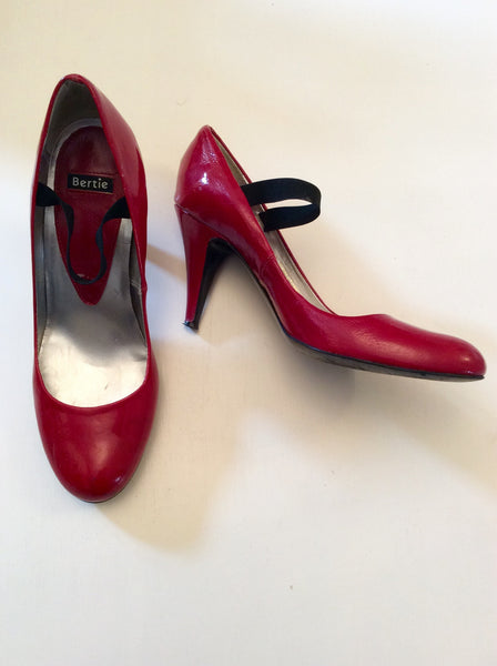 Bertie Red Patent Leather Mary Jane Heels Size 6/39 - Whispers Dress Agency - sold - 1