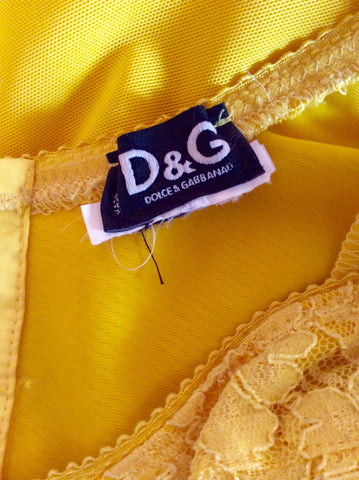Dolce & Gabbana Yellow Lace Trim Corset Dress Size 6/8 - Whispers Dress Agency - Sold - 4