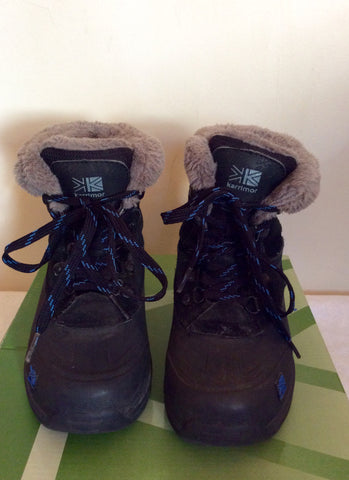 Karrimor Junior Black / Blue Suede Snow / Walking Boots Size 11 - Whispers Dress Agency - Boys Footwear - 1