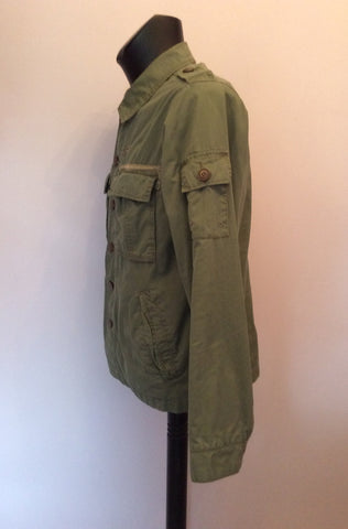 Abercrombie & Fitch Green Cotton Jacket Size M - Whispers Dress Agency - Mens Coats & Jackets - 3