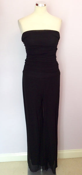 4a0163f600b9 Joseph Ribkoff Black Strapless Occasion Jumpsuit Size 14 - Whispers Dress  Agency - Sold - 1