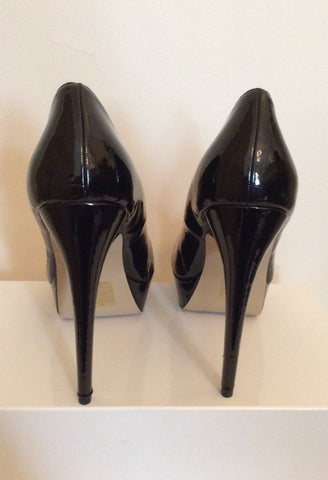 Brand New Kitch Couture Black Patent Platform High Heels Size 7/40 - Whispers Dress Agency - Womens Heels - 4