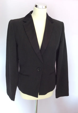 Joseph Black Linen & Cotton Evening Jacket Size L - Whispers Dress Agency - Womens Coats & Jackets - 1
