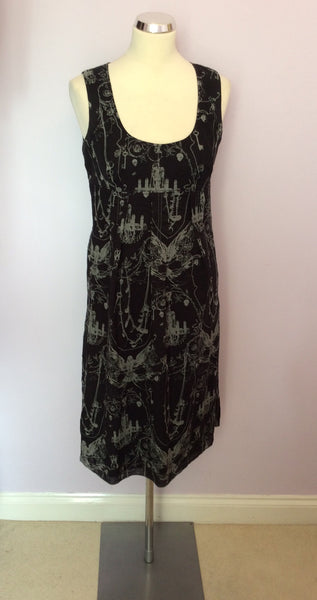 Firetrap Black Skull & Chains Print Dress Size M - Whispers Dress Agency - Sold - 1