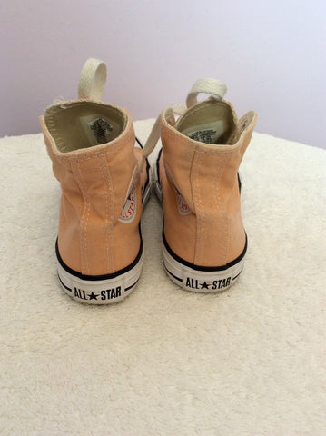 Converse All Star Youth Peach High Top Trainers Size 12 - Whispers Dress Agency - Girls Footwear - 2
