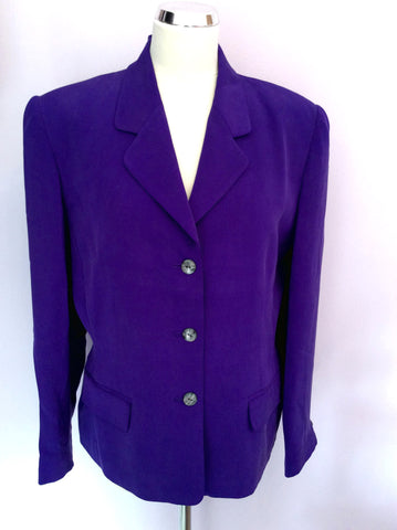 Brand New August Silk Sport Purple Silk Skirt Suit Size L - Whispers Dress Agency - Womens Suits & Tailoring - 2