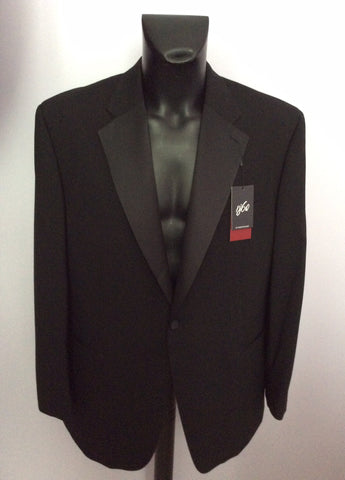 Brand New 1860 By Greenwoods Black Spill Resist Tuxedo Suit Size 44R /42R - Whispers Dress Agency - Mens Suits & Tailoring - 2
