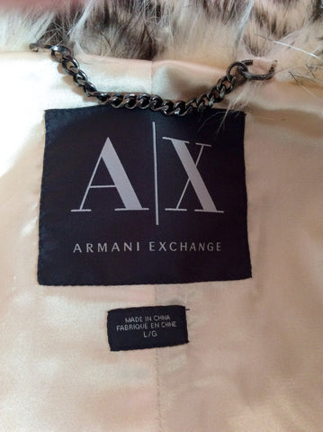 Armani Exchange Faux Fur Gilet Size L - Whispers Dress Agency - Womens Gilets & Body Warmers - 5