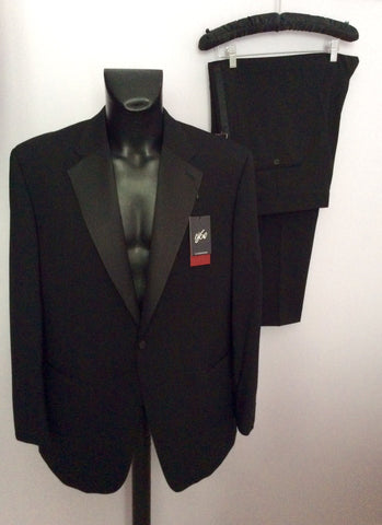 Brand New 1860 By Greenwoods Black Spill Resist Tuxedo Suit Size 44R /42R - Whispers Dress Agency - Mens Suits & Tailoring - 1