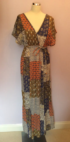 Brand New Monsoon Multi Print Maxi Dress Size Small - Whispers Dress Agency - Womens Dresses - 1