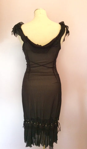 Brand New Joseph Black Silk Strappy Dress Size 40 UK 8 - Whispers Dress Agency - Womens Dresses - 2
