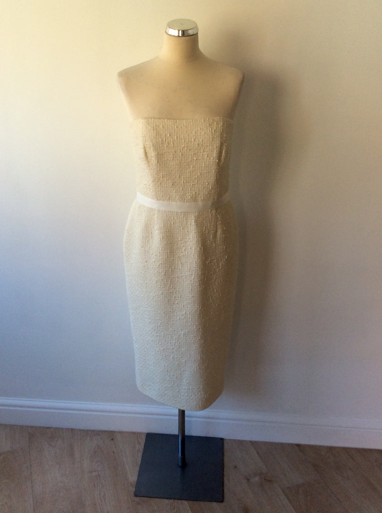 9e05ca6680373 JAEGER IVORY STRAPLESS PENCIL DRESS SIZE 12 - Whispers Dress Agency - Womens  Dresses - 1