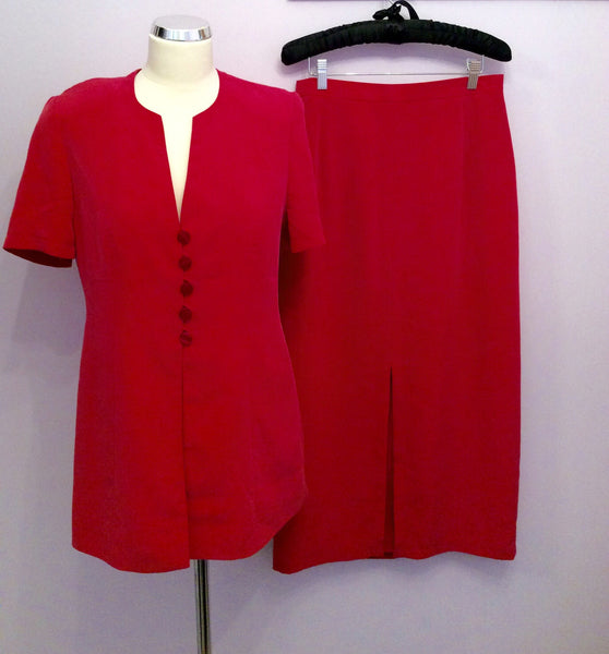 Jacques Vert Fuchsia Pink Long Skirt & Jacket/Top Suit Size 10/12 - Whispers Dress Agency - Womens Suits & Tailoring - 1