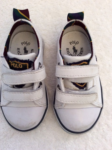 Ralph Lauren Polo Infant White Leather Shoes Size 4.5/21 - Whispers Dress Agency - Baby - 2