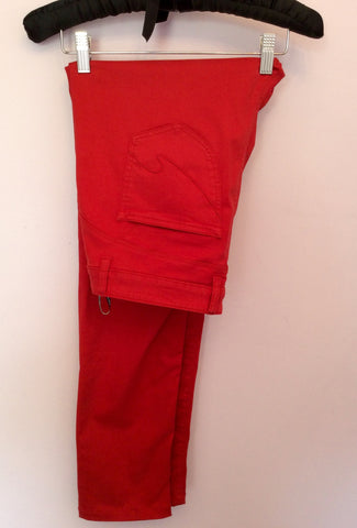 Hauber Red Stretch Slim Leg Jeans Size 14 - Whispers Dress Agency - Womens Jeans - 3
