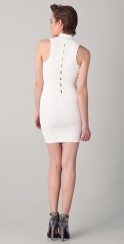 Brand New Alexander Wang White Cut Out Bodycon Dress Size L - Whispers Dress Agency - Womens Dresses - 3