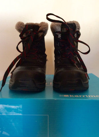 Karrimor Junior Black / Red Suede Snow / Walking Boots Size 12 - Whispers Dress Agency - Boys Footwear - 2