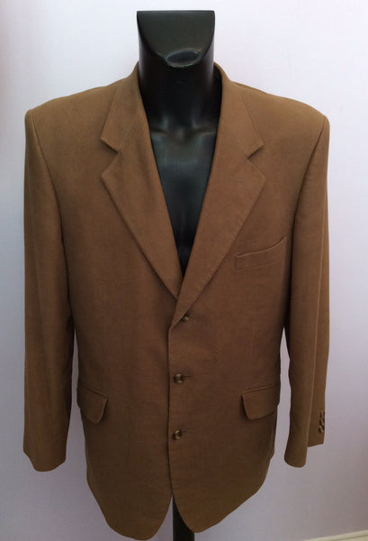 Brand New Crombie Light Brown Brushed Cotton Jacket Size 44R - Whispers Dress Agency - Sold - 1