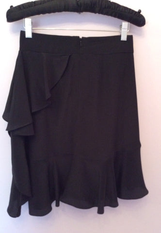 Brand New Coast Black Silk Frill Trim Skirt Size 8 - Whispers Dress Agency - Womens Skirts - 2