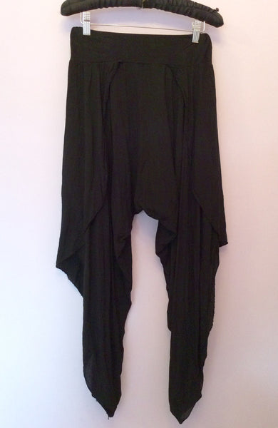 Made In Italy Black Harem Trousers One Size - Whispers Dress Agency - Sold - 1