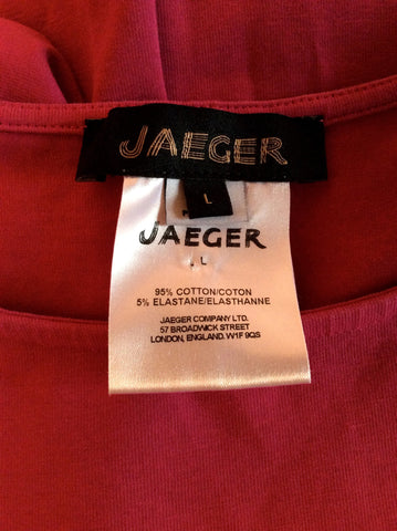 JAEGER DEEP PINK SHORT SLEEVE TOP SIZE L - Whispers Dress Agency - Womens Tops - 2