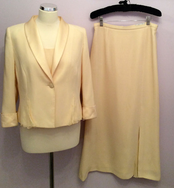 Presen De Luxe Lemon Long Skirt, Top & Jacket Size 12/14 - Whispers Dress Agency - Womens Suits & Tailoring - 1
