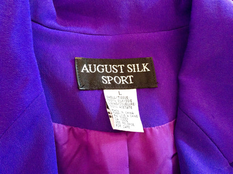 Brand New August Silk Sport Purple Silk Skirt Suit Size L - Whispers Dress Agency - Womens Suits & Tailoring - 6