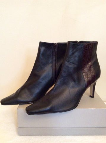 Brand New Marks & Spencer Brown Ankle Boots Size 7/40.5 - Whispers Dress Agency - Womens Boots - 2
