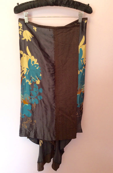 Penny Black Multi Coloured Print Silk Wrap Skirt Size 10 - Whispers Dress Agency - Womens Skirts - 1