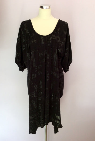 Bolongaro Trevor Black Print Dress Size S - Whispers Dress Agency - Sold - 1