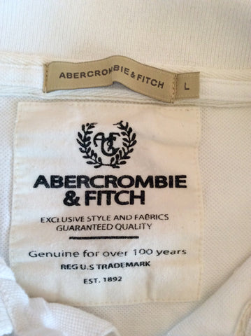 Abercrombie & Fitch White Short Sleeve Polo Shirt Size L - Whispers Dress Agency - Mens Casual Shirts & Tops - 2