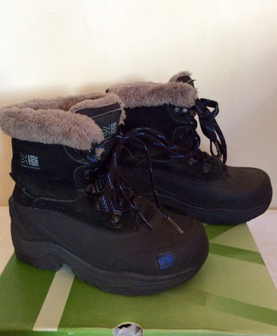 Karrimor Junior Black / Blue Suede Snow / Walking Boots Size 11 - Whispers Dress Agency - Boys Footwear - 2
