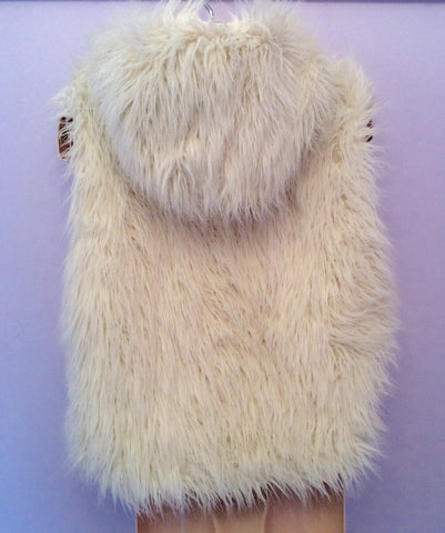 Monsoon Winter White Faux Fur Gilet Age 8-10 Yrs - Whispers Dress Agency - Girls Coats & Jackets - 2