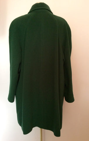 Austin Reed Dark Green Wool & Cashmere Blend Coat Size 16 - Whispers Dress Agency - Womens Coats & Jackets - 3