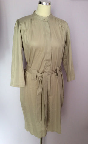French Connection Beige Belted Shorts Playsuit Size 10 - Whispers Dress Agency - Womens Jumpsuits & Playsuits - 1