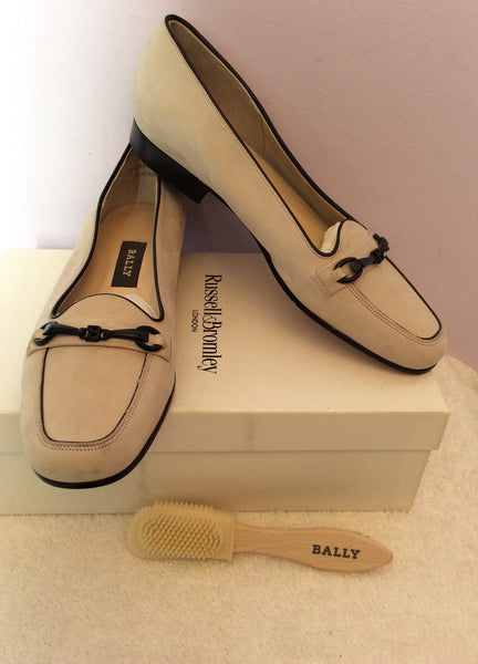 Brand New Bally Beige Leather Shoes Size 5/38 - Whispers Dress Agency - Sold - 1