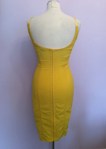 Dolce & Gabbana Yellow Lace Trim Corset Dress Size 6/8 - Whispers Dress Agency - Sold - 3