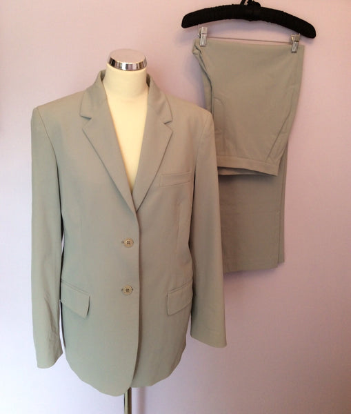 CALVIN KLEIN LIGHT GREY TROUSER SUIT SIZE 16 - Whispers Dress Agency - Womens Suits & Tailoring - 1