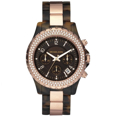 Michael Kors Rose Gold & Tortoise Shell Watch - Whispers Dress Agency - Womens Jewellery - 1