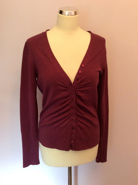Whistles Purple Sparkle Cardigan Size 4 UK 14 - Whispers Dress Agency - Sold - 1