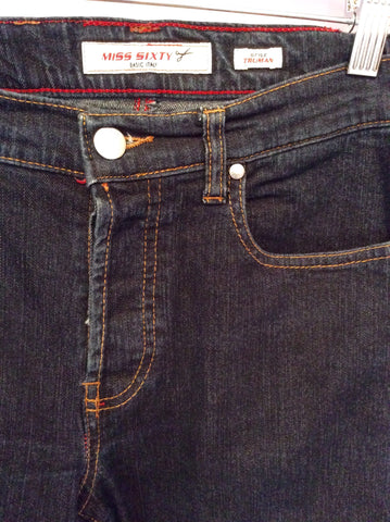 "Miss Sixty Dark Blue Slim Leg Jeans Size 29"" - Whispers Dress Agency - Womens Jeans - 2"