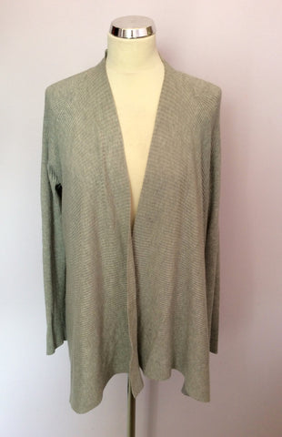 Ava Light Grey Cardigan Size 12 - Whispers Dress Agency - Womens Knitwear - 1