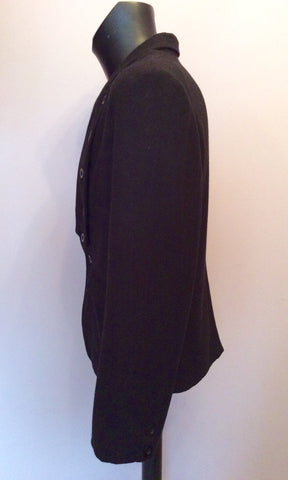 DESIGNER PEOPLES MARKET BLACK BUTTON TRIM JACKET SIZE L - Whispers Dress Agency - Mens Suits & Tailoring - 4