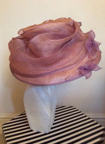 Occasions By Failsworth Millinery Dusky Pink & Lilac Flower Trim Formal Hat - Whispers Dress Agency - Womens Formal Hats & Fascinators - 2