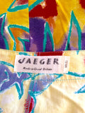 Vintage Jaeger Yellow Print Crop Top & Trousers Approx Size 6/8 - Whispers Dress Agency - Sold - 6