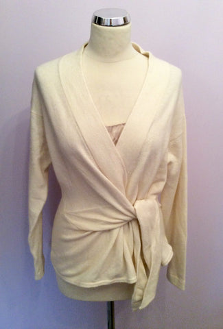 Kenar Ivory V Neck Tie Side Jumper Size XL - Whispers Dress Agency - Womens Knitwear - 1